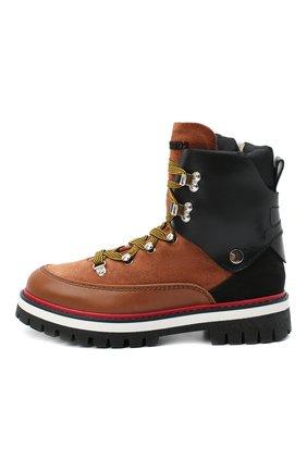 Детские кожаные ботинки DSQUARED2 коричневого цвета, арт. 65198/RUNNER/36-41 | Фото 2