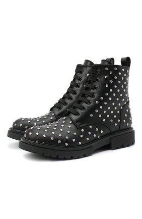 Детские кожаные ботинки ERMANNO SCERVINO черного цвета, арт. 66524/RUNNER/36-41 | Фото 1