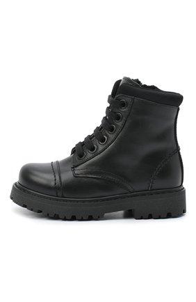 Детские кожаные ботинки MONTELPARE TRADITION черного цвета, арт. MT19202/VITELL0/18-27 | Фото 2