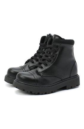 Детские кожаные ботинки MONTELPARE TRADITION черного цвета, арт. MT19202/VITELL0/28-35 | Фото 1