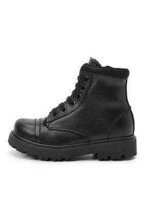 Детские кожаные ботинки MONTELPARE TRADITION черного цвета, арт. MT19202/VITELL0/28-35 | Фото 2