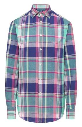 Женская хлопковая рубашка RALPH LAUREN синего цвета, арт. 290797831 | Фото 1