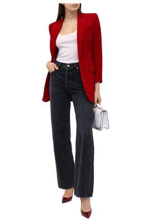 Женская кожаные туфли zoe SAINT LAURENT красного цвета, арт. 529733/1YN00 | Фото 2