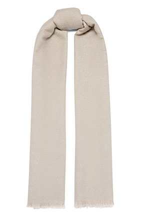 Женский шарф BRUNELLO CUCINELLI светло-бежевого цвета, арт. MSCDAR069 | Фото 1