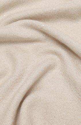 Женский шарф BRUNELLO CUCINELLI светло-бежевого цвета, арт. MSCDAR069 | Фото 2