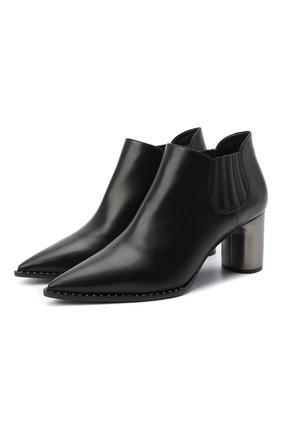 Женские кожаные ботильоны CASADEI черного цвета, арт. 1Q016R0601C08759000 | Фото 1