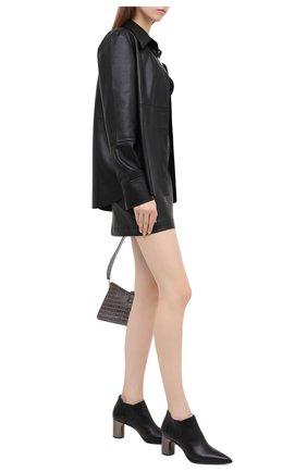 Женские кожаные ботильоны CASADEI черного цвета, арт. 1Q016R0601C08759000 | Фото 2
