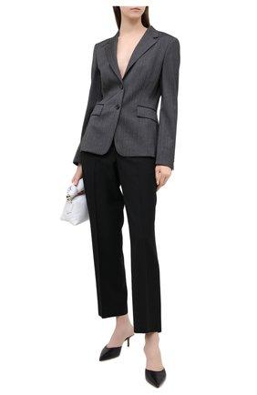 Женский шерстяной жакет BOSS черно-белого цвета, арт. 50440240 | Фото 2