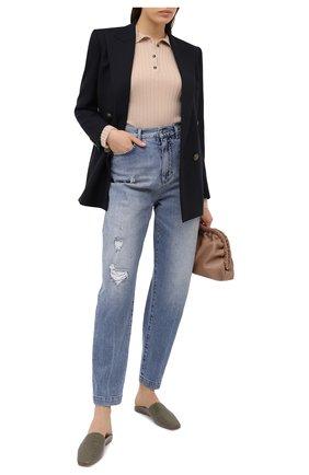 Женские джинсы DOLCE & GABBANA голубого цвета, арт. FTBYLD/G8CT4 | Фото 2