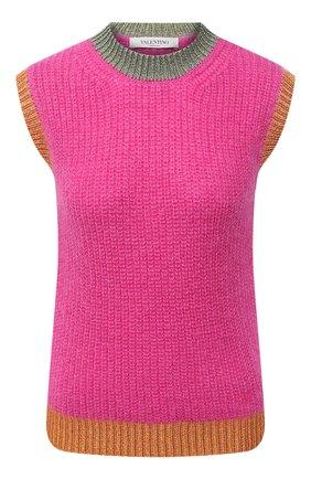 Женский шерстяной жилет VALENTINO розового цвета, арт. UB3KC16T5RH | Фото 1