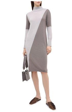 Женское кашемировое платье LORENA ANTONIAZZI бежевого цвета, арт. A20117AM003/117 | Фото 2
