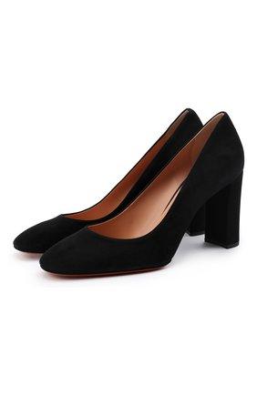 Женская замшевые туфли SANTONI черного цвета, арт. WDLE58931HA2NMGDN01 | Фото 1