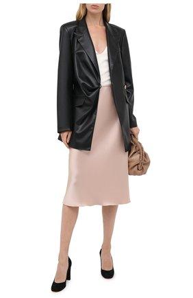 Женская замшевые туфли SANTONI черного цвета, арт. WDLE58931HA2NMGDN01 | Фото 2