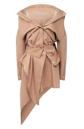 Женское хлопковое платье ALEXANDER WANG бежевого цвета, арт. 1WC2206324 | Фото 1