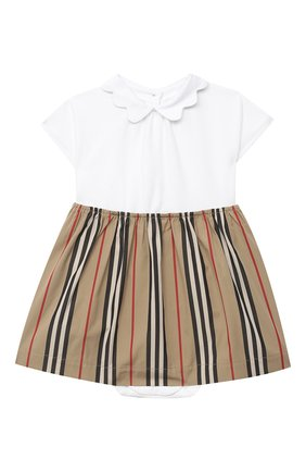 Женский комплект из платья и шорт BURBERRY белого цвета, арт. 8030391 | Фото 1