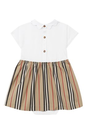 Женский комплект из платья и шорт BURBERRY белого цвета, арт. 8030391 | Фото 2