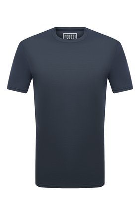 Мужская хлопковая футболка FEDELI темно-серого цвета, арт. 3UID0113 | Фото 1