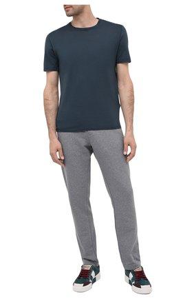 Мужская хлопковая футболка FEDELI темно-серого цвета, арт. 3UID0113 | Фото 2