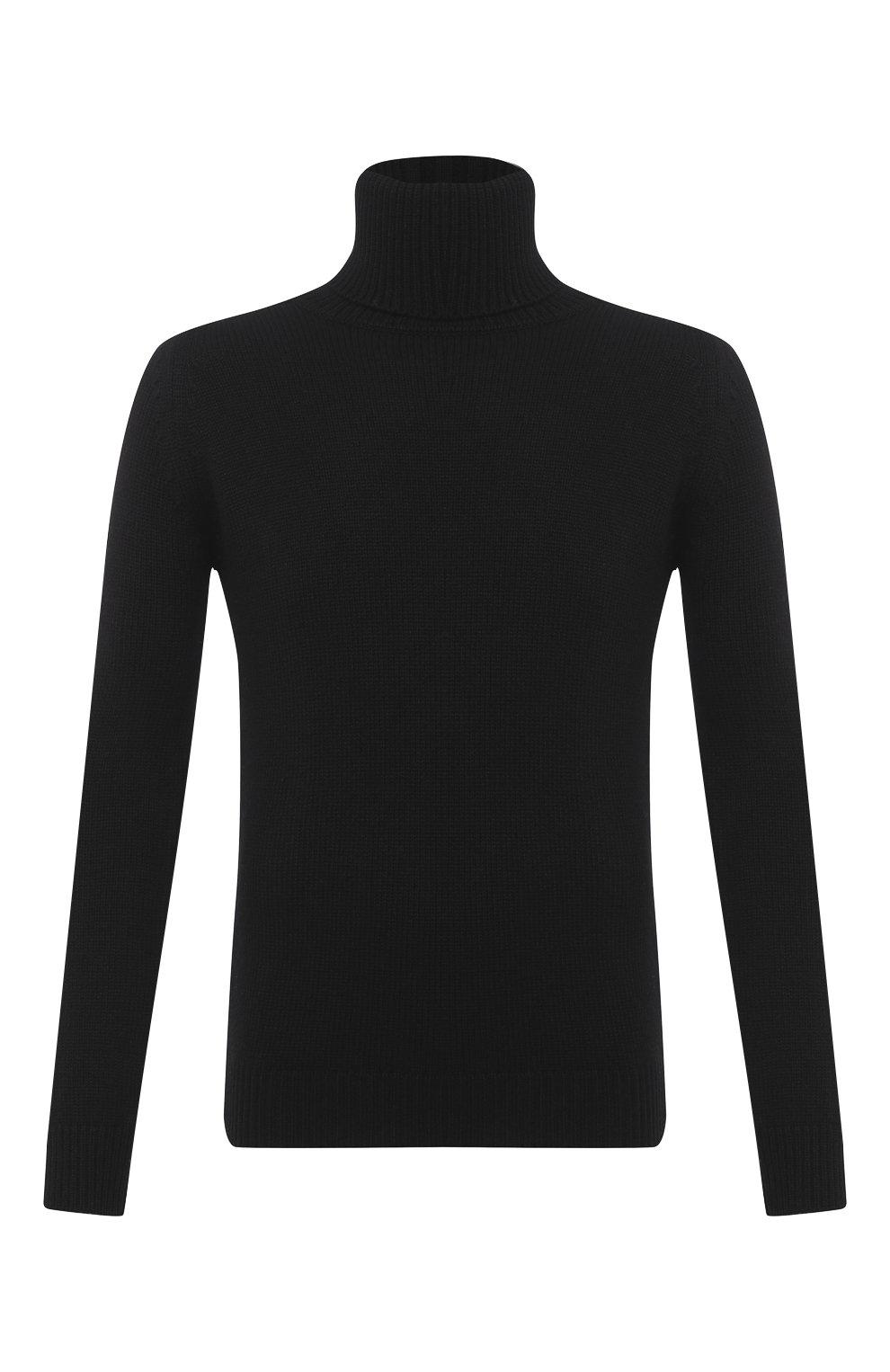 Мужской кашемировая водолазка SAINT LAURENT черного цвета, арт. 631860/YALJ2   Фото 1