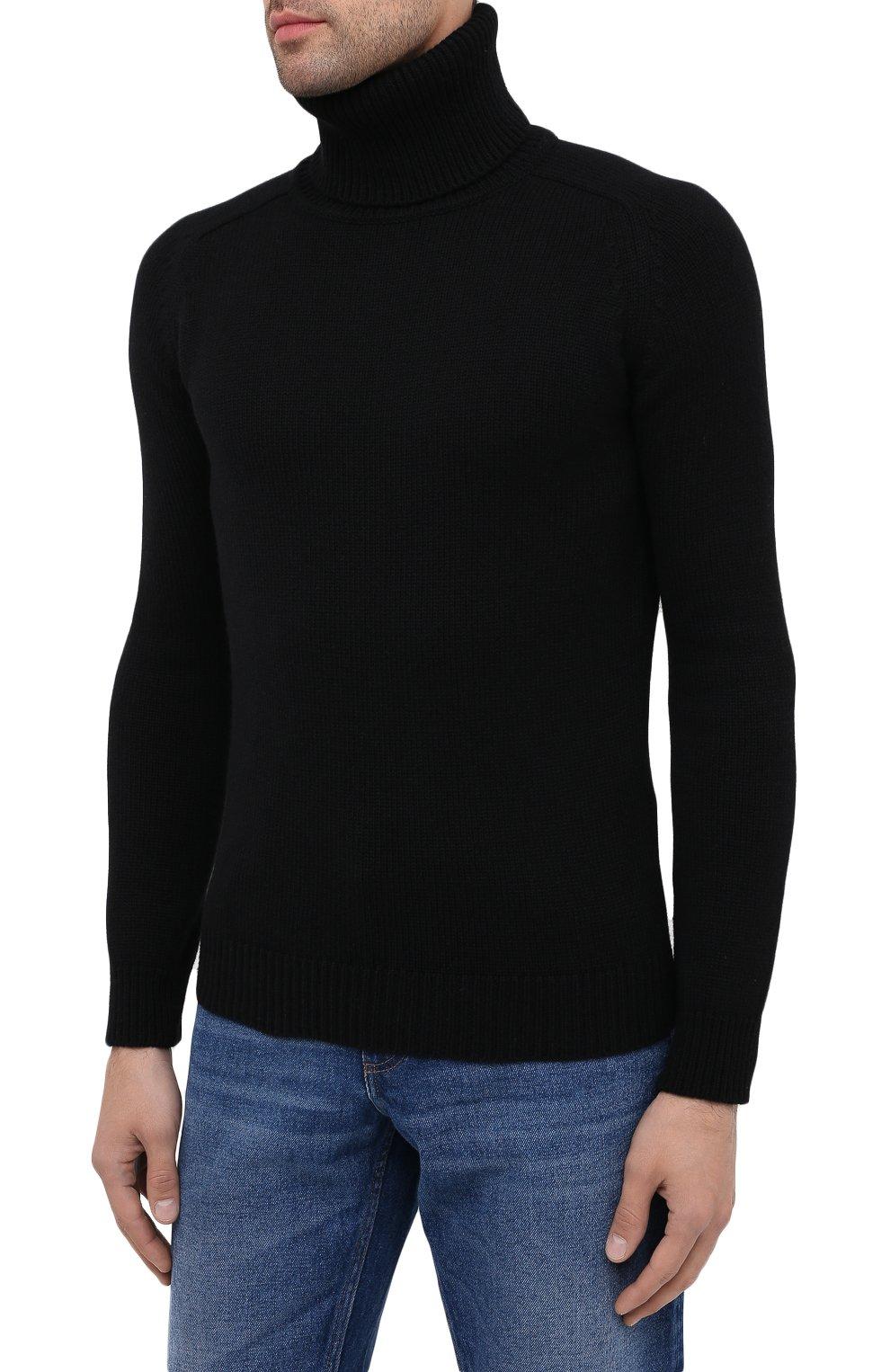 Мужской кашемировая водолазка SAINT LAURENT черного цвета, арт. 631860/YALJ2   Фото 3