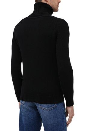 Мужской кашемировая водолазка SAINT LAURENT черного цвета, арт. 631860/YALJ2   Фото 4