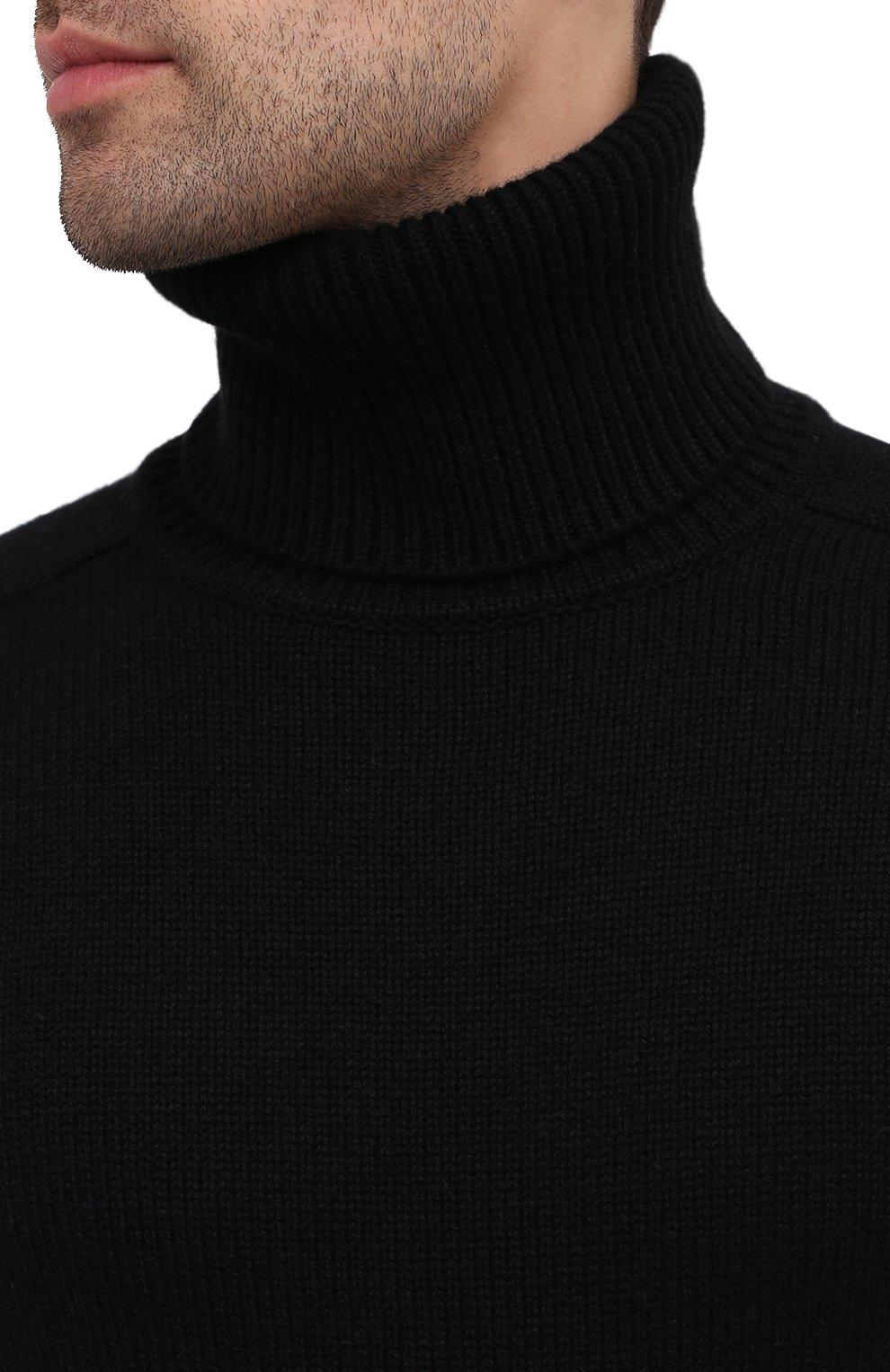 Мужской кашемировая водолазка SAINT LAURENT черного цвета, арт. 631860/YALJ2   Фото 5