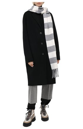 Мужские шарф из шерсти и кашемира LORENA ANTONIAZZI белого цвета, арт. A20152SP013/204   Фото 2