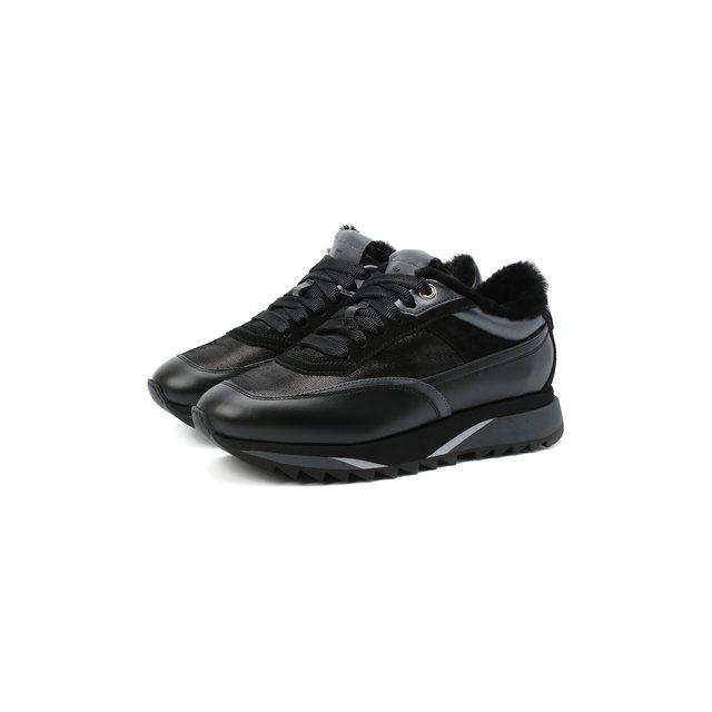 Кожаные кроссовки Santoni