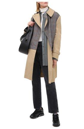 Женские кожаные кроссовки SANTONI черного цвета, арт. WBFW60582NGGPAENN50   Фото 2