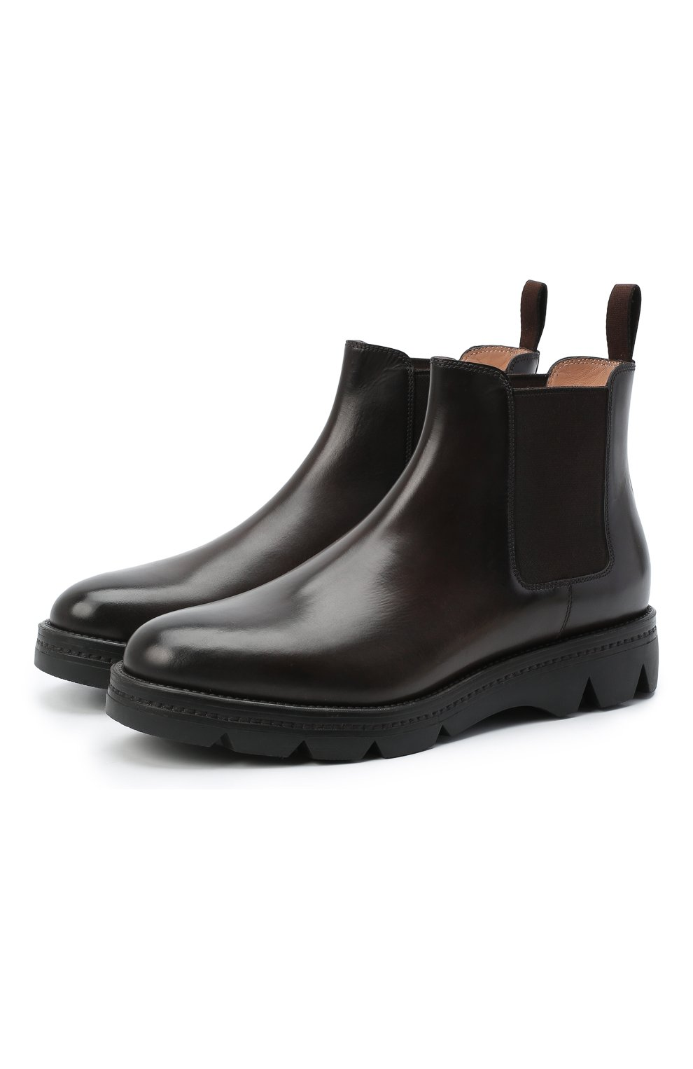 Женские кожаные ботинки SANTONI коричневого цвета, арт. WTUD55806SM0NLESS61 | Фото 1