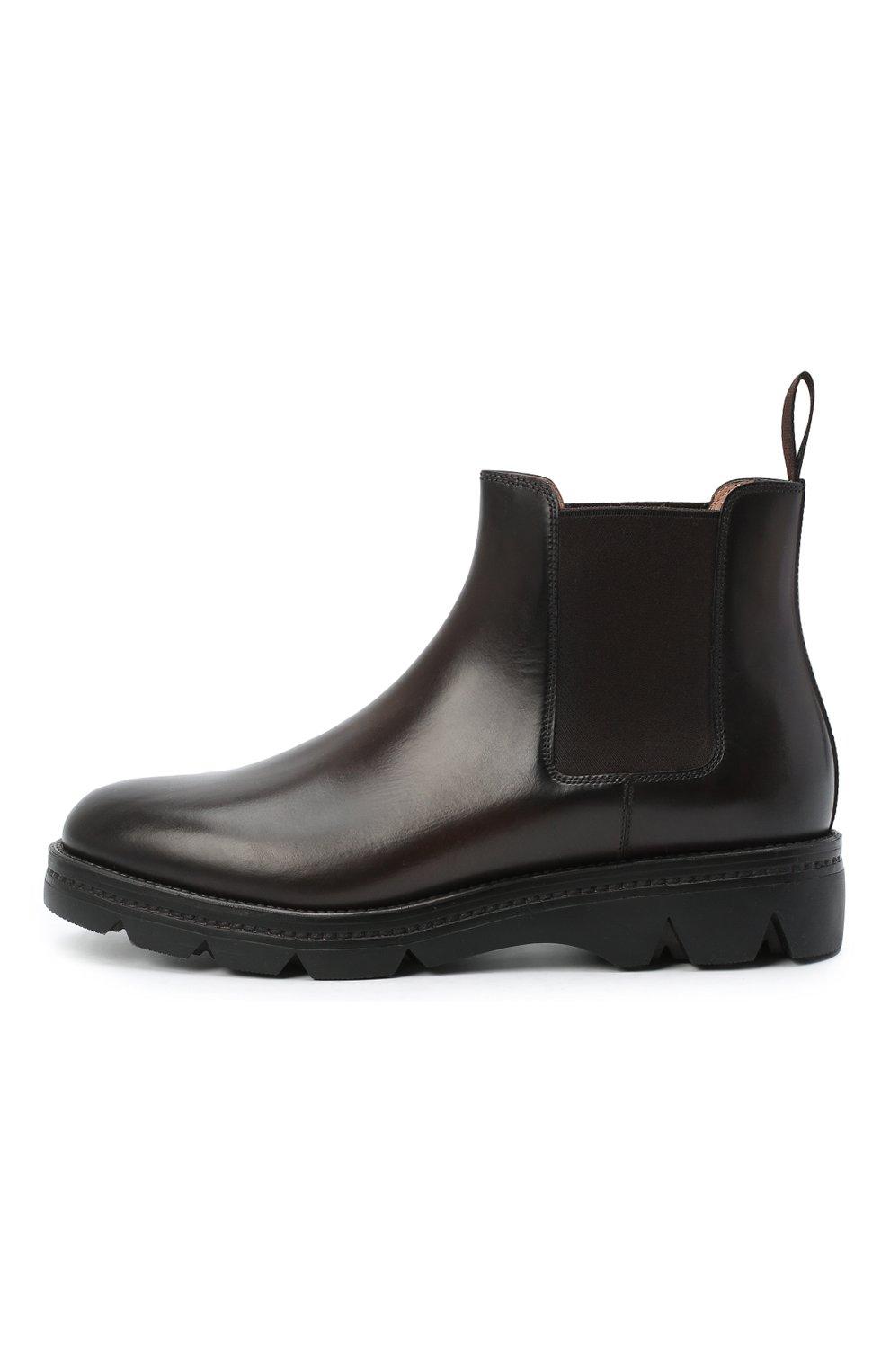 Женские кожаные ботинки SANTONI коричневого цвета, арт. WTUD55806SM0NLESS61 | Фото 3