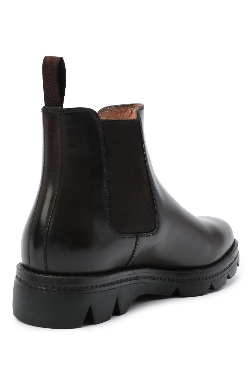 Женские кожаные ботинки SANTONI коричневого цвета, арт. WTUD55806SM0NLESS61 | Фото 4