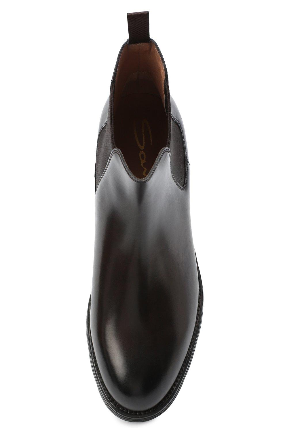 Женские кожаные ботинки SANTONI коричневого цвета, арт. WTUD55806SM0NLESS61 | Фото 5