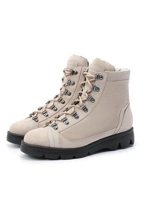 Женские замшевые ботинки SANTONI бежевого цвета, арт. WTUD58934SM0APYLE21   Фото 1