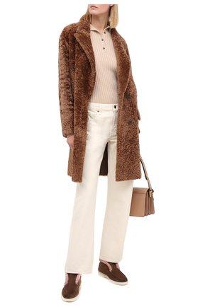 Женские замшевые ботинки SANTONI коричневого цвета, арт. WUYA58457TISAPFCS56 | Фото 2