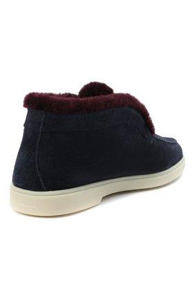 Женские замшевые ботинки SANTONI синего цвета, арт. WUYA58457TISAPFCU68   Фото 4