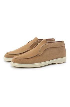 Женские замшевые ботинки SANTONI бежевого цвета, арт. WUYA58458TISNPYLC23 | Фото 1