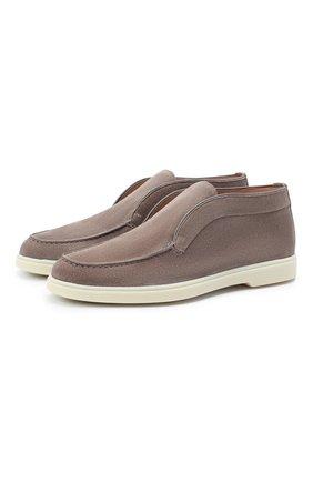 Женские замшевые ботинки SANTONI серого цвета, арт. WUYA58458TISNPYLM40 | Фото 1