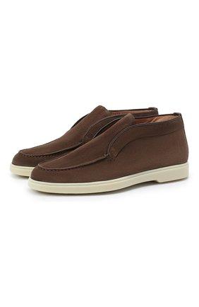 Женские замшевые ботинки SANTONI коричневого цвета, арт. WUYA58458TISNPYLS50   Фото 1