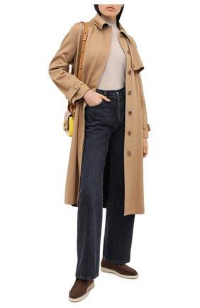 Женские замшевые ботинки SANTONI коричневого цвета, арт. WUYA58458TISNPYLS50   Фото 2