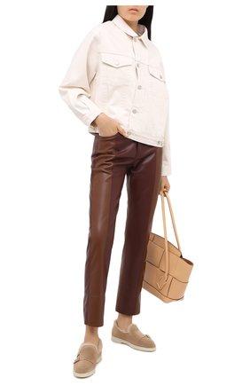 Женские замшевые ботинки SANTONI коричневого цвета, арт. WUYA58865TISAPFRC23 | Фото 2