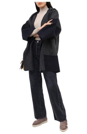 Женские замшевые ботинки SANTONI бежевого цвета, арт. WUYA58865TISAPFRM40 | Фото 2