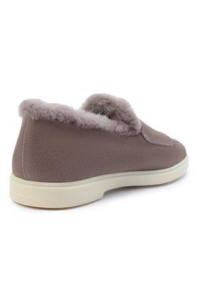 Женские замшевые ботинки SANTONI бежевого цвета, арт. WUYA58865TISAPFRM40 | Фото 4