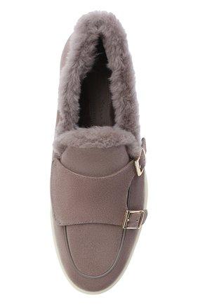 Женские замшевые ботинки SANTONI бежевого цвета, арт. WUYA58865TISAPFRM40 | Фото 5