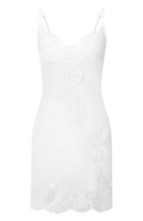 Женская шелковая сорочка MARJOLAINE белого цвета, арт. 3GEM0113 | Фото 1