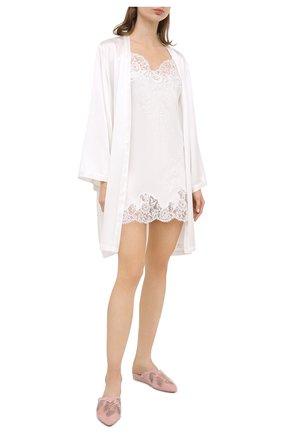 Женская шелковая сорочка MARJOLAINE белого цвета, арт. 3GEM0113 | Фото 2