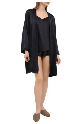 Женская шелковая пижама MARJOLAINE черного цвета, арт. ODON-3SOI5003 | Фото 1