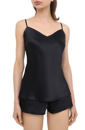 Женская шелковая пижама MARJOLAINE черного цвета, арт. ODON-3SOI5003 | Фото 2