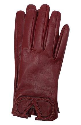 Женские кожаные перчатки VALENTINO красного цвета, арт. UW2GDA15/IDM | Фото 1