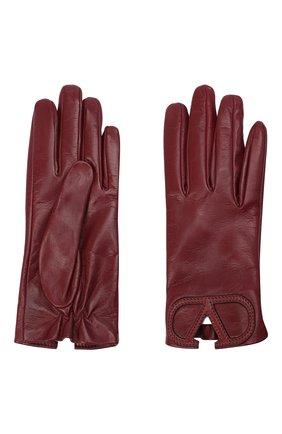 Женские кожаные перчатки VALENTINO красного цвета, арт. UW2GDA15/IDM | Фото 2